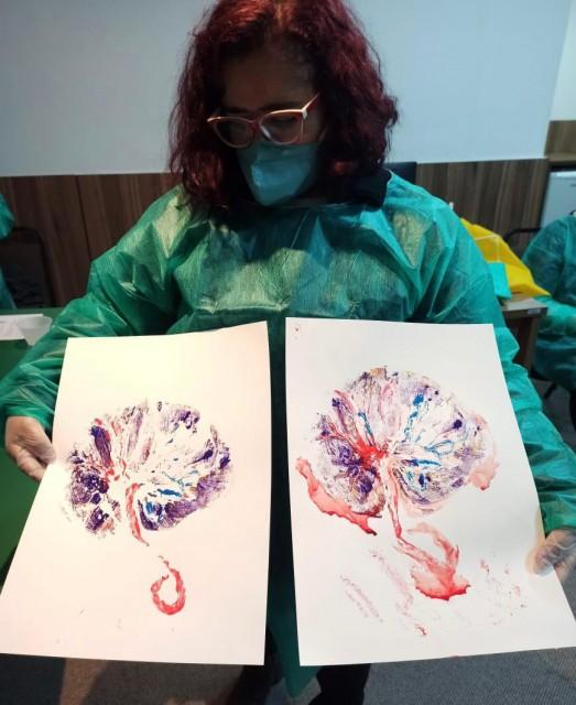 Print de Placenta: oficina prepara equipe do Hospital Albert Sabin para eternizar as lembranças do parto através da arte